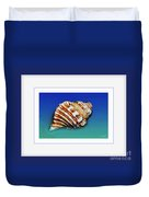 Seashell Wall Art 1 - Blue Frame Duvet Cover