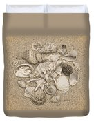 Seashells Collection Drawing Duvet Cover