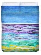 Seashore Blue Sky Duvet Cover