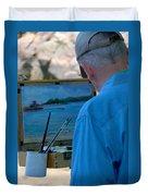 Seaside Artist Duvet Cover