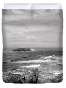 Seaside Bluff Bw Duvet Cover
