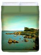 Seaside In The Distance Digital Duvet Cover