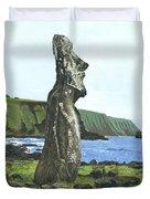 Seaside Moai Duvet Cover