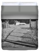 Seaside Park New Jersey Shore Bw Duvet Cover