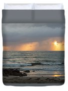Seaside Rainstorm Duvet Cover