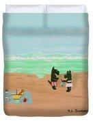 Seaside Scotties Duvet Cover