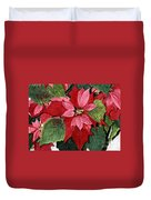 Seasonal Scarlet Duvet Cover