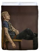 Seated Man Duvet Cover