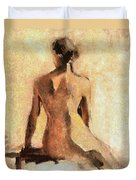 Seated Nude Duvet Cover