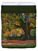 Seated Under The Fall Colors Duvet Cover