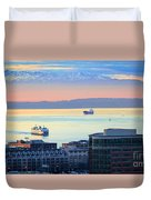 Seattle And Elliott Bay Duvet Cover
