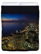 Seattle Dusk Colors Duvet Cover