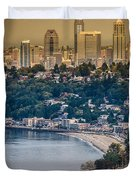 Seattle From The Air Duvet Cover