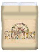 Seattle Mariners Poster Art Duvet Cover