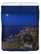 Seattle Moonset Glow Duvet Cover