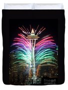Seattle New Year Duvet Cover
