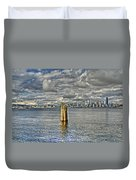 Seattle Skyline And Cityscape Duvet Cover