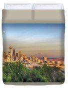 Seattle Skyline Lens Baby Hdr Duvet Cover