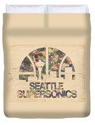 Seattle Supersonics Poster Vintage Duvet Cover