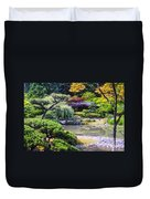 Seattle Tea Garden Duvet Cover
