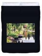 Seattle Tea Garden Reflections Duvet Cover