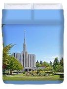 Seattle Temple - Horizontal Duvet Cover