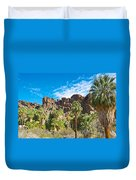 Second Largest Stand Of Fan Palms In The World In Andreas Canyon In Indian Canyons-ca Duvet Cover
