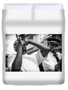 Second Line Black And White Duvet Cover