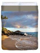 Secret Beach At Sunset Duvet Cover