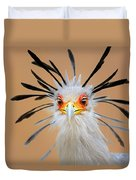Secretary Bird Portrait Close-up Head Shot Duvet Cover by Johan Swanepoel