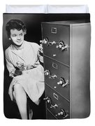 Secure Filing Cabinet Duvet Cover by Underwood Archives