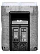 Sedgwick Street Old Town Chicago Duvet Cover by Christine Till