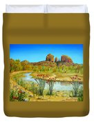 Sedona Arizona Duvet Cover by Jerome Stumphauzer
