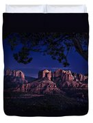 Sedona Cathedral Rock Post Sunset Glow Duvet Cover