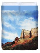 Sedona Mountains Duvet Cover