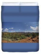 Sedona Panorama In 5 Pictures Duvet Cover