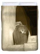 Sedona Series - Jug In Sepia Duvet Cover