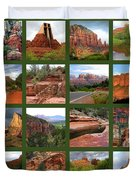 Sedona Spring Collage Duvet Cover by Carol Groenen