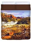 Sedona Winter Painting Duvet Cover