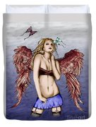 Seductive Angel Colored Duvet Cover