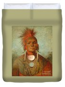 See Non Ty A An Iowa Medicine Man Duvet Cover by George Catlin