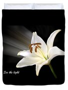 See The Light Duvet Cover by Gill Billington
