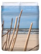 See Through On The Dutch Beach Duvet Cover