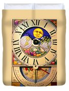 Seed Planting Clock Duvet Cover