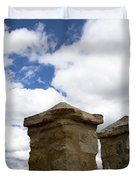 Segovia Wall Against Blue Sky Duvet Cover