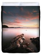 Seil Island Sunset Duvet Cover
