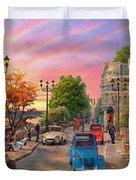 Seine Sunset Duvet Cover
