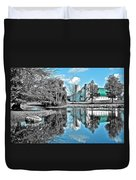 Selective Color Fall Day Duvet Cover