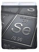 Selenium Chemical Element Duvet Cover