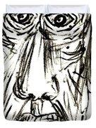 Self-portrait As An Old Man Duvet Cover